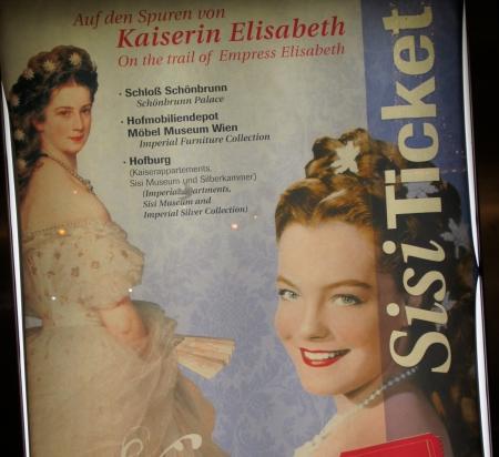 """Werbung für """"Sisi-Ticket"""" [Foto: C. Koss, Wien, 31. Dez. 2015]"""