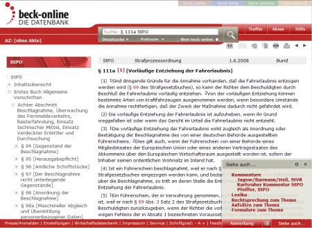 Screenshot beck-online